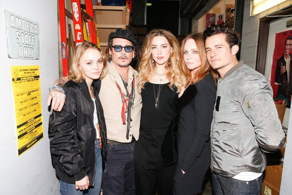 Lily-Rose-Depp_Johnny-Depp_Orlando-Bloom_Stella-McCartney-Amoeba-Music_Hollywood