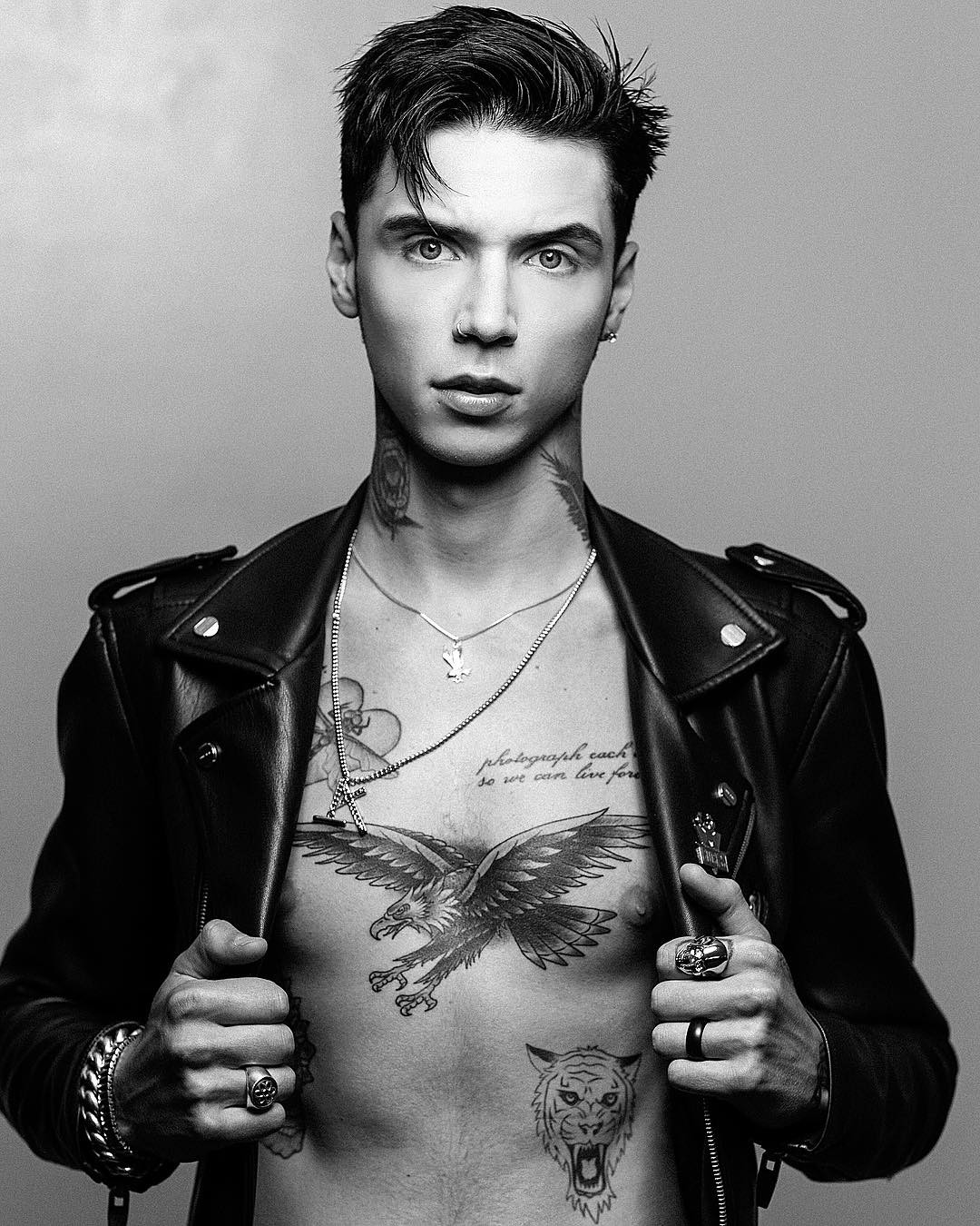 andy biersack tattoos